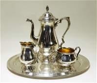 International Sterling Silver 4 Piece Tea Set