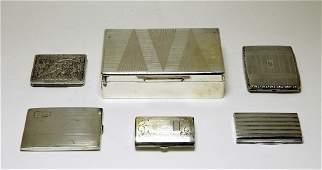 Sterling Silver Cigarette Holders & Box