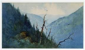 Walter Chaloner New England Landscape WC Painting