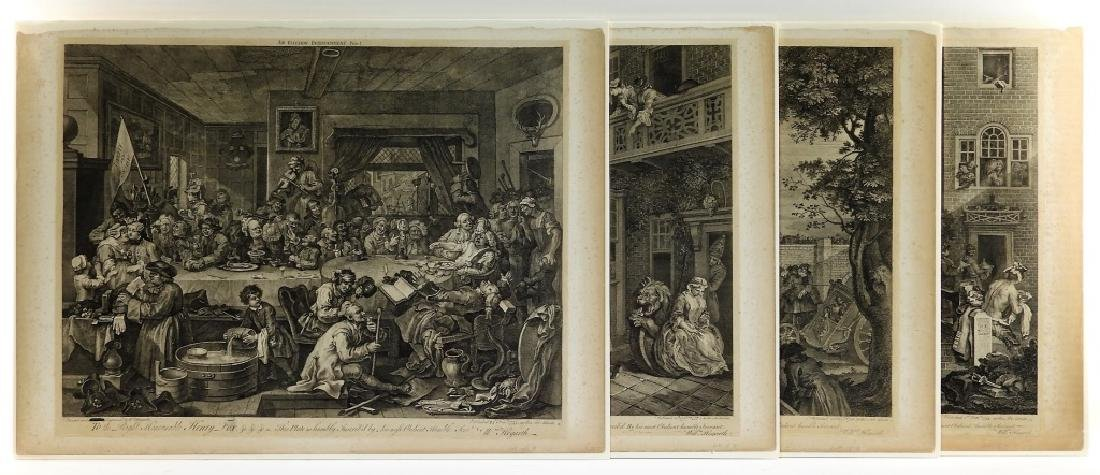 4 William Hogarth Election Series Copper Engraving