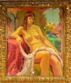 Joseph Rimini Impressionist Nude Boudoir Painting