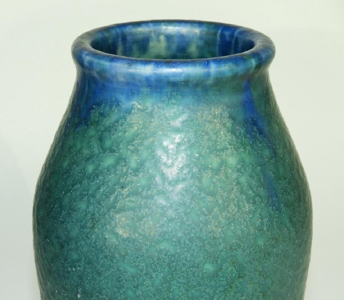 Rookwood Pottery Z-line Matte Blue-Green Vase - 2