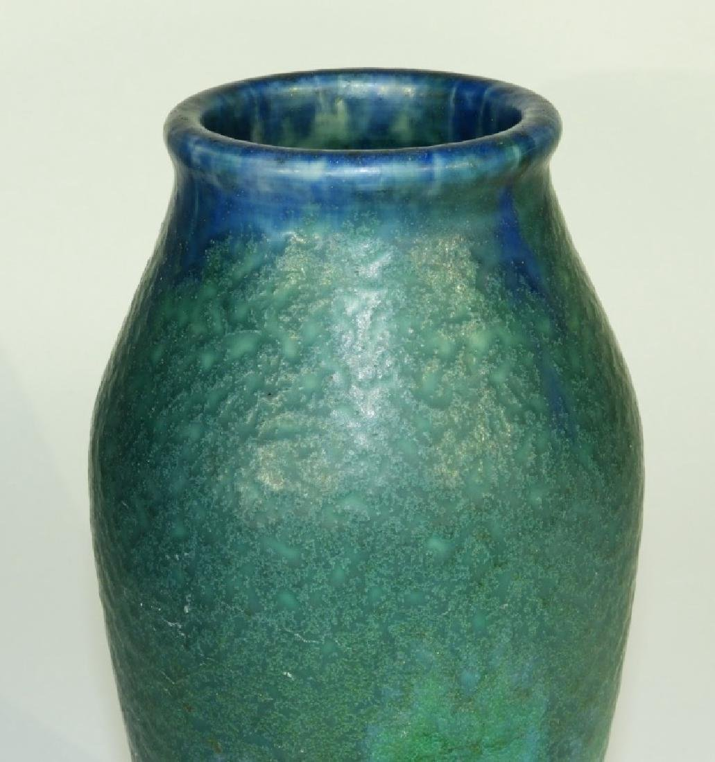 Rookwood Pottery Z-line Matte Blue-Green Vase - 3