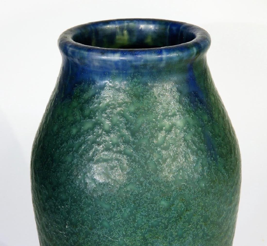 Rookwood Pottery Z-line Matte Blue-Green Vase - 4
