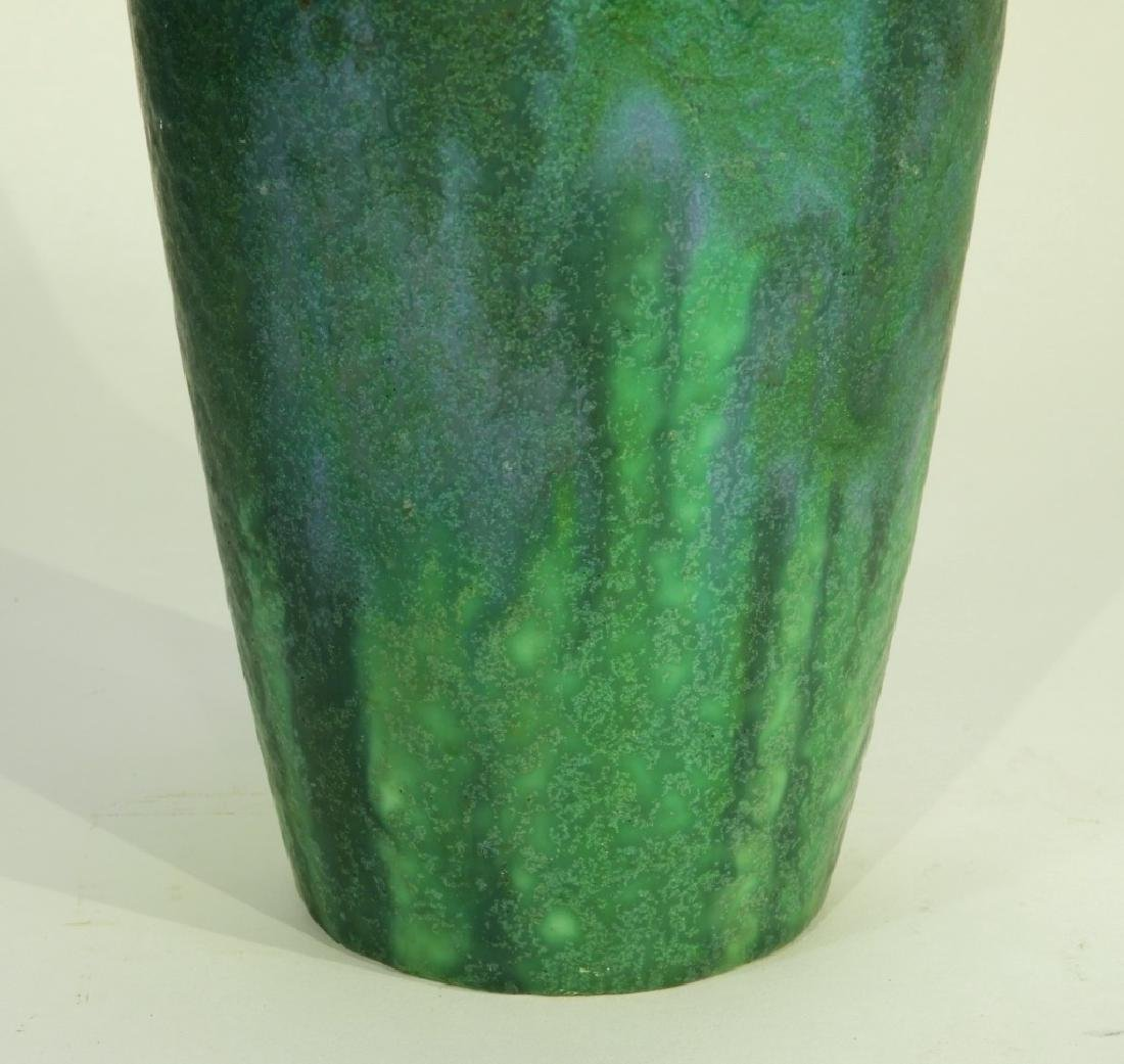 Rookwood Pottery Z-line Matte Blue-Green Vase - 5