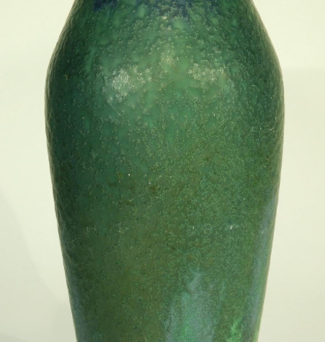 Rookwood Pottery Z-line Matte Blue-Green Vase - 6