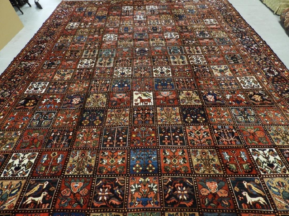 Antique Persian Oriental Bachtiari Carpet Rug