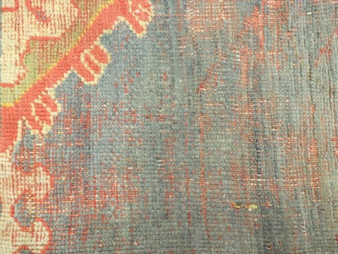 C.1900 Oriental Turkish Oushak Carpet Rug - 10