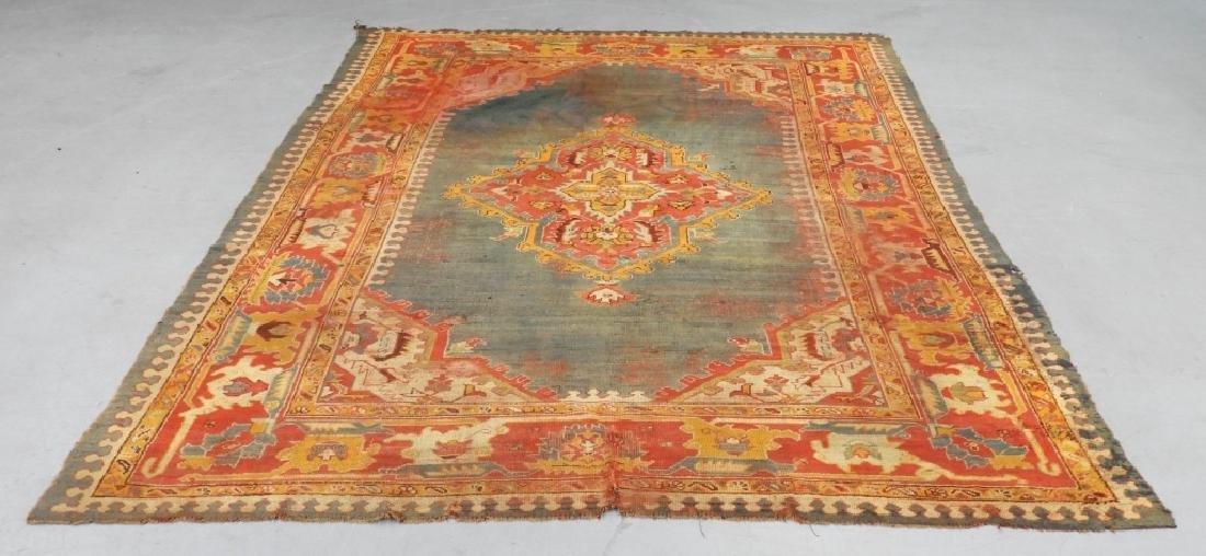 C.1900 Oriental Turkish Oushak Carpet Rug