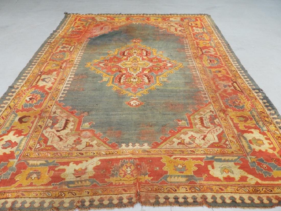 C.1900 Oriental Turkish Oushak Carpet Rug - 2