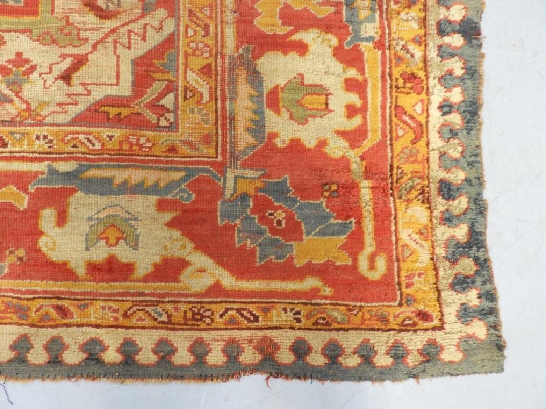C.1900 Oriental Turkish Oushak Carpet Rug - 3