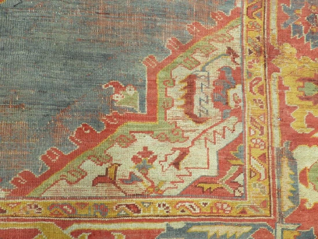 C.1900 Oriental Turkish Oushak Carpet Rug - 4