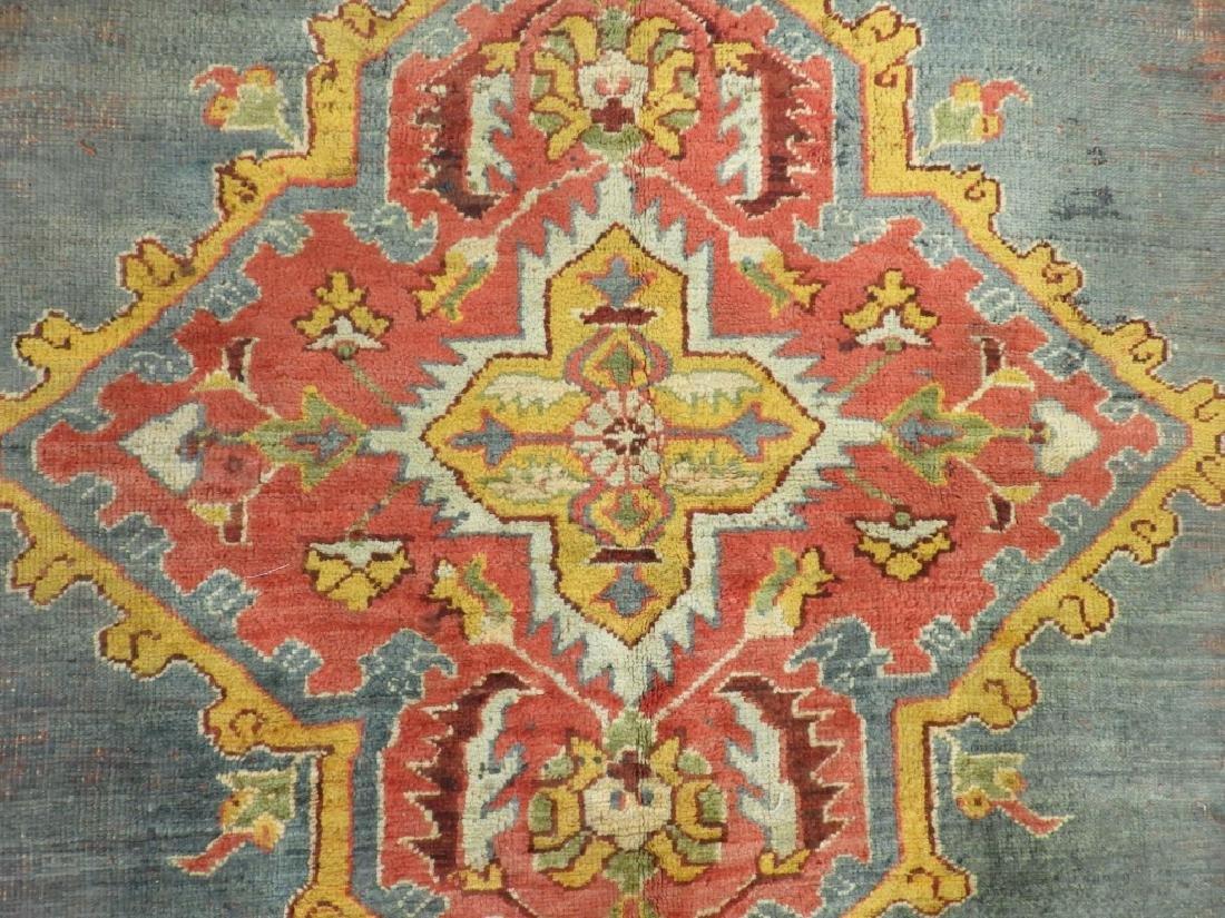C.1900 Oriental Turkish Oushak Carpet Rug - 5
