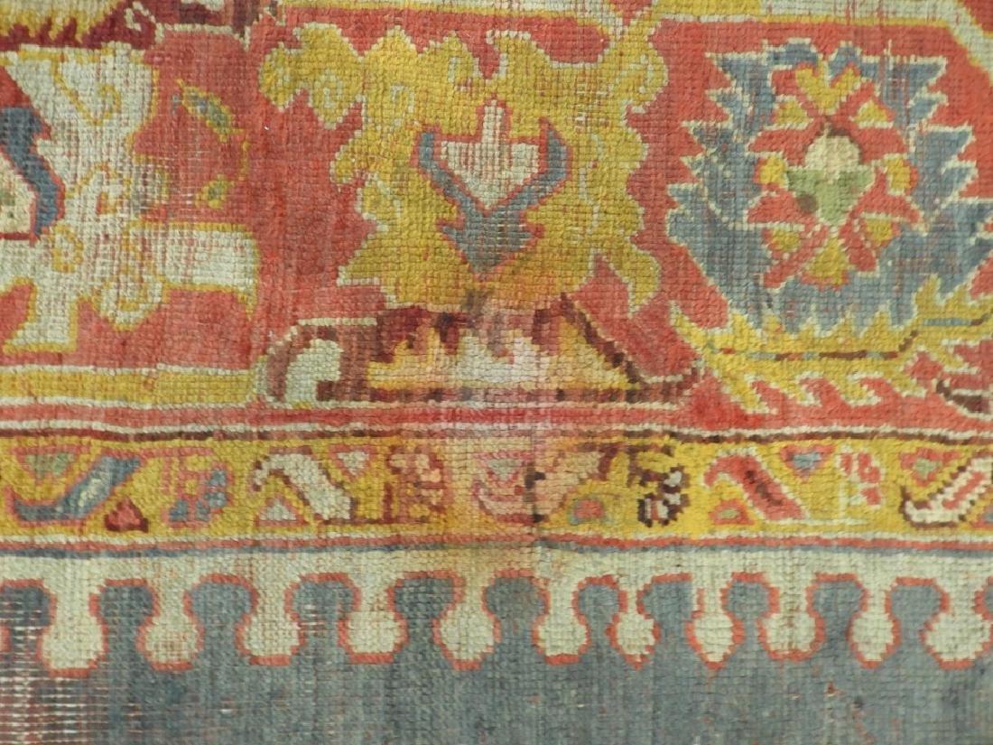 C.1900 Oriental Turkish Oushak Carpet Rug - 6