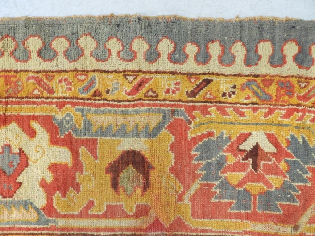 C.1900 Oriental Turkish Oushak Carpet Rug - 7