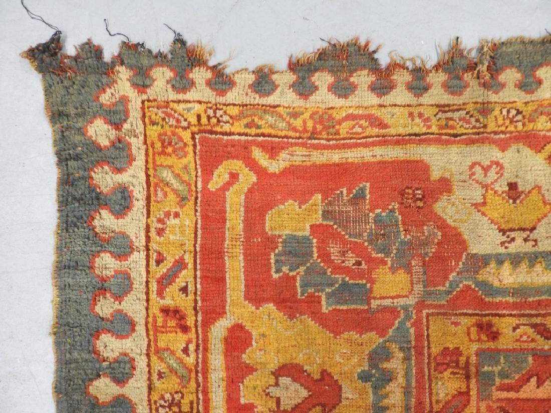 C.1900 Oriental Turkish Oushak Carpet Rug - 8