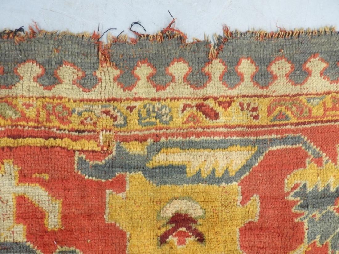 C.1900 Oriental Turkish Oushak Carpet Rug - 9