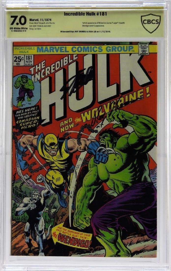 Marvel Comics Incredible Hulk No.181 CBCS Gold 7.0