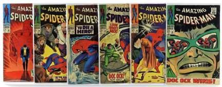 6 Marvel Comics Amazing Spider-Man No.50 to 55 Run
