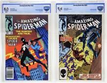 Marvel Comics Amazing Spider-Man No.252 & 265 CBCS