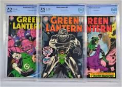 3 D.C Comics Green Lantern No.56 to 58 CBCS Graded