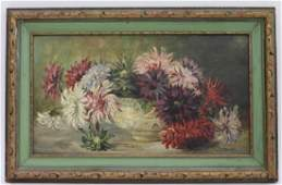 Mary Wood Whittaker O/C Floral Still Life Painting