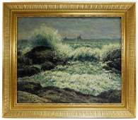 George A Hays O/C Seascape Painting