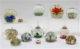 13 Italian Murano Art Glass Paperweights