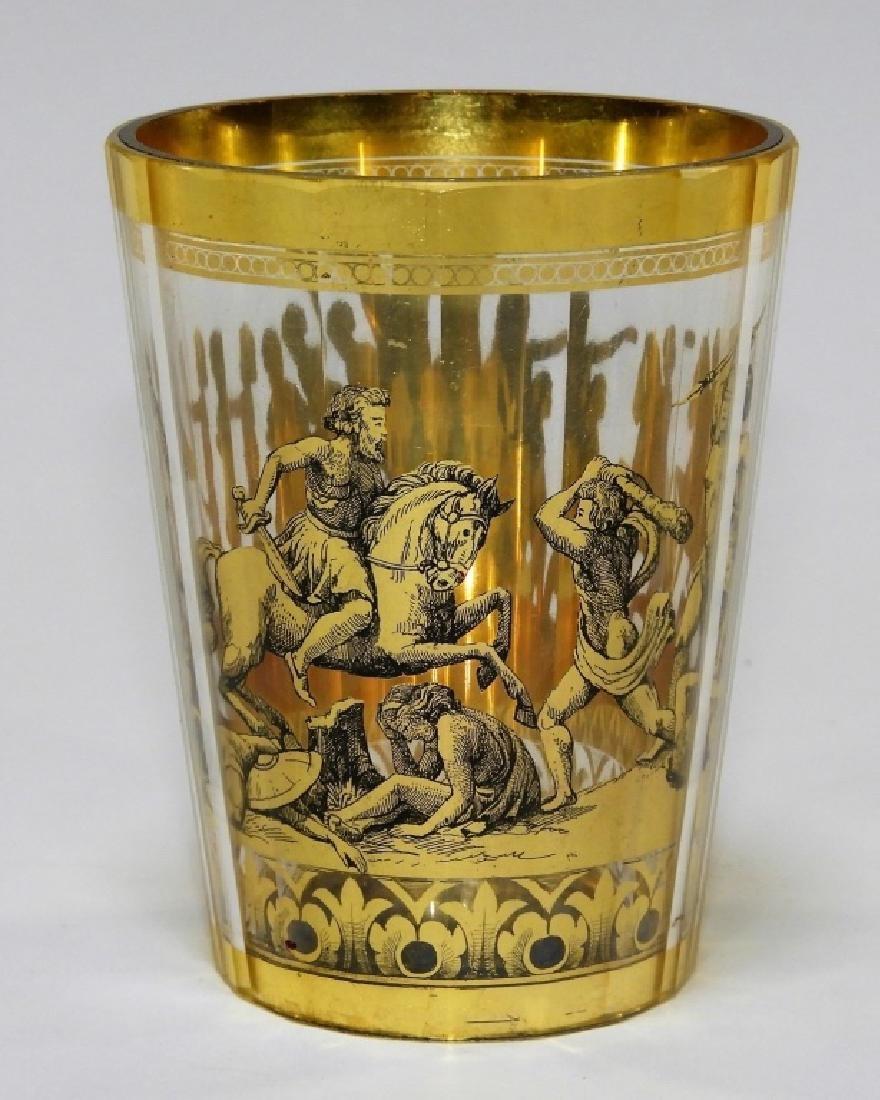 FINE 18C. Russian Imperial Glass Barbaric Beaker