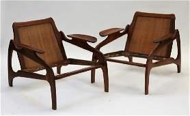 Edvard Kindt-Larsen MCM Danish Teak Lounge Chairs