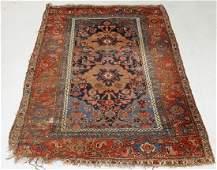C1900 Oriental Persian Bidjar Wool Floral Carpet