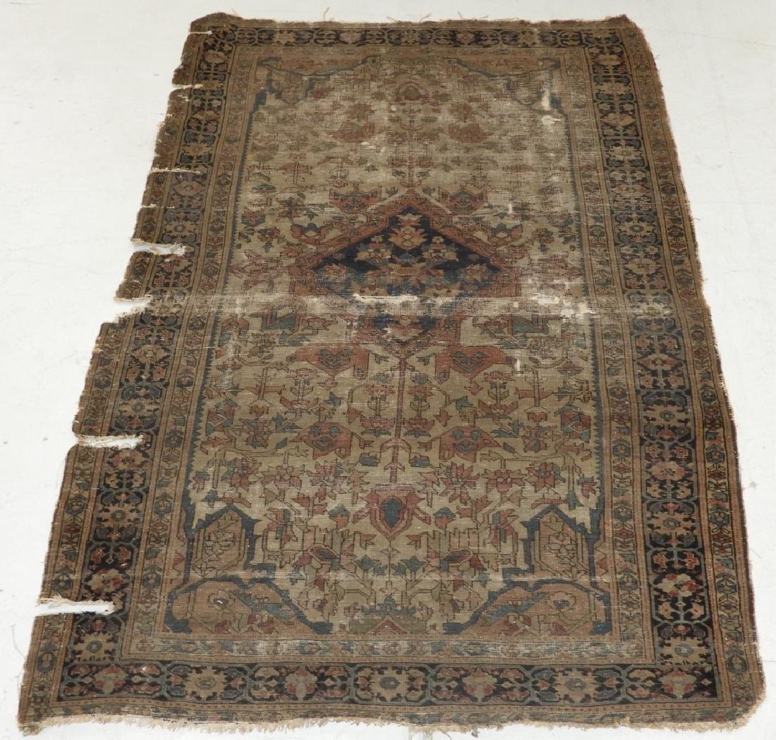 Antique Oriental Persian Sarouk Carpet Rug