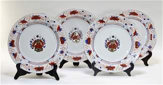 FINE 4 18C. Chinese Imari Porcelain Armorial Plate