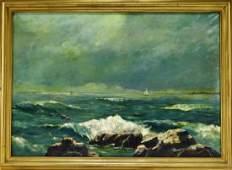 William Sterna Barrett Coastal Seascape Painting