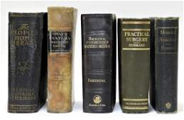 5 Antique Doctor's Medical Surgery Anatomy Books