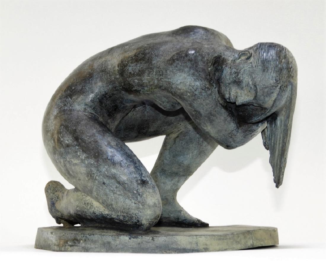 FINE Enrique Alferez Nude Bather Bronze Sculpture