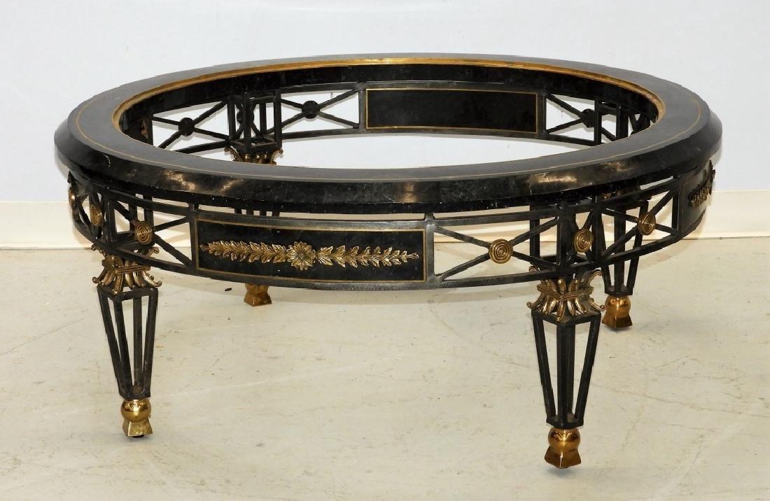 Maitland-Smith Iron Brass Marble Coffee Table