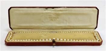 Tiffany & Co Pearl Diamond Platinum Clasp Necklace