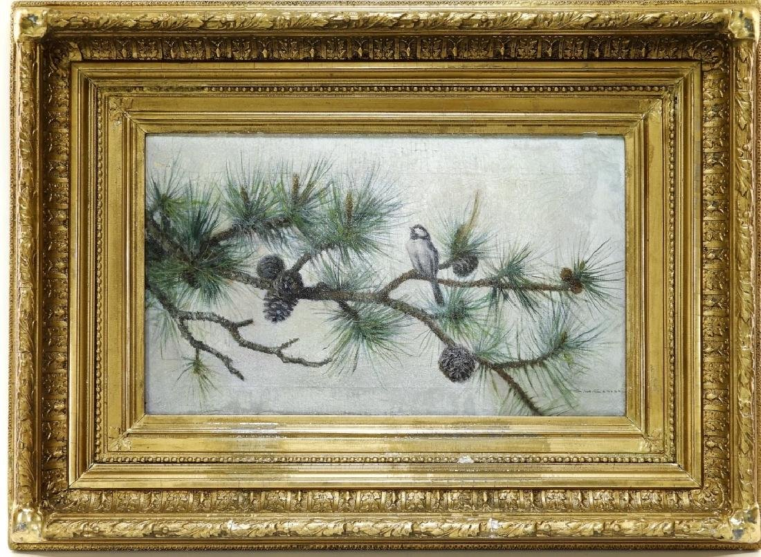 Charles D Cahoon Impressionist Painting of a Finch