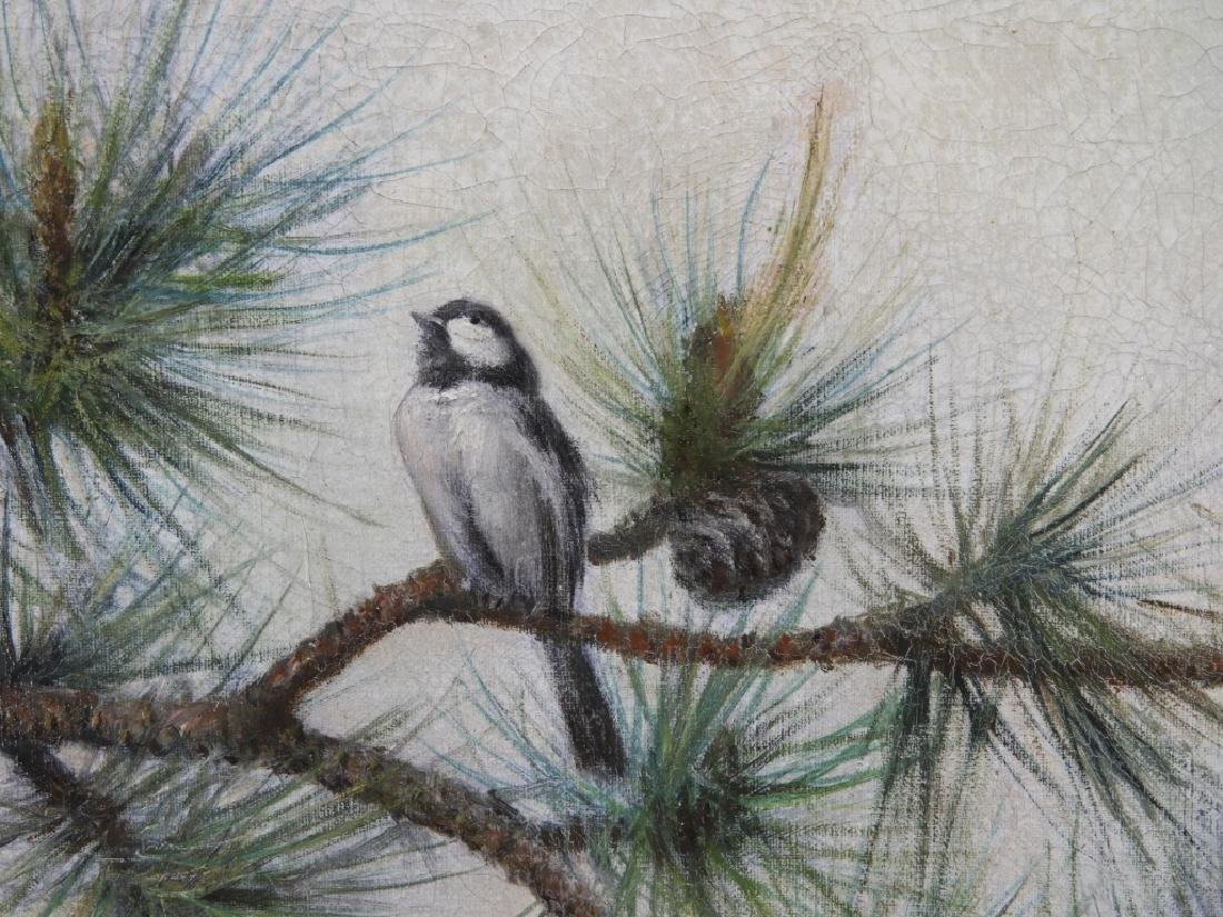 Charles D Cahoon Impressionist Painting of a Finch - 3