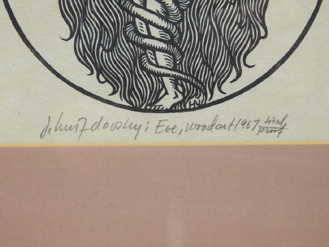 Jacques Hnizdovsky Eve Woodcut 1967 Trial Proof - 4