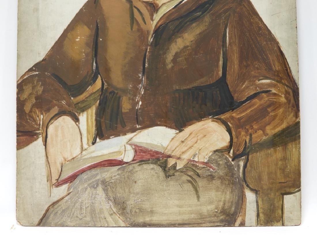 American Ashcan School O/B Realist Painting of Man - 3