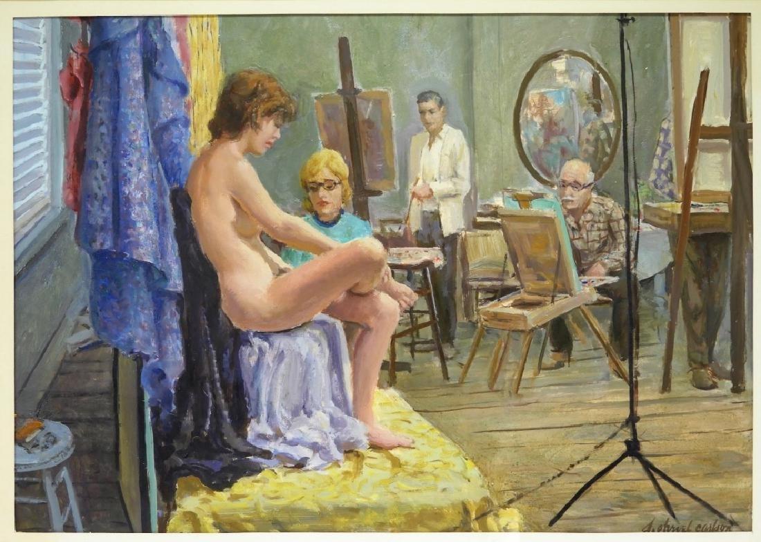 Sven Carlson Nude Model Studio Interior Painting