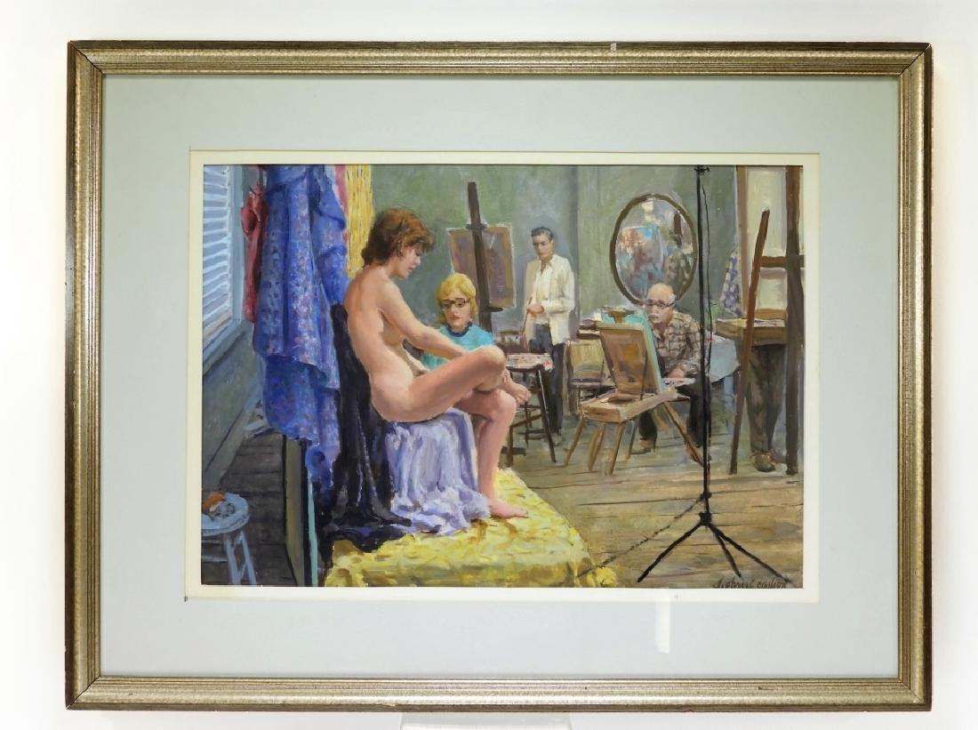 Sven Carlson Nude Model Studio Interior Painting - 2