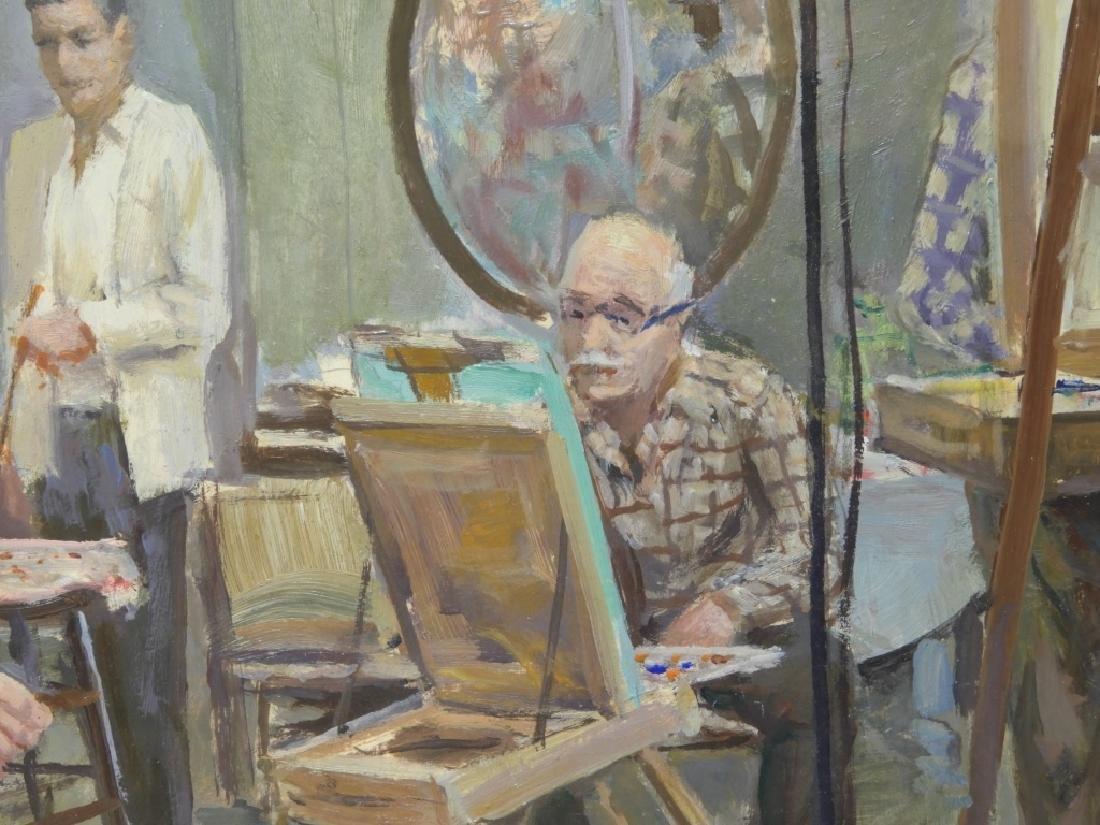 Sven Carlson Nude Model Studio Interior Painting - 4