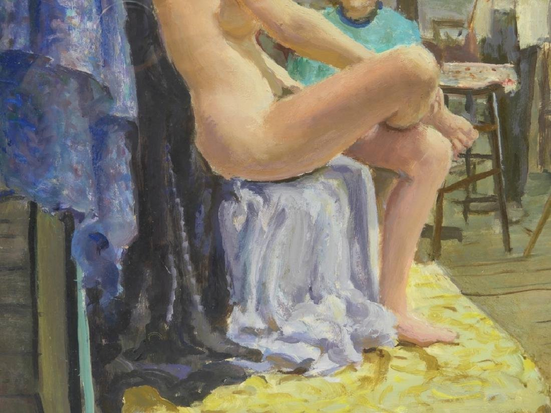 Sven Carlson Nude Model Studio Interior Painting - 6
