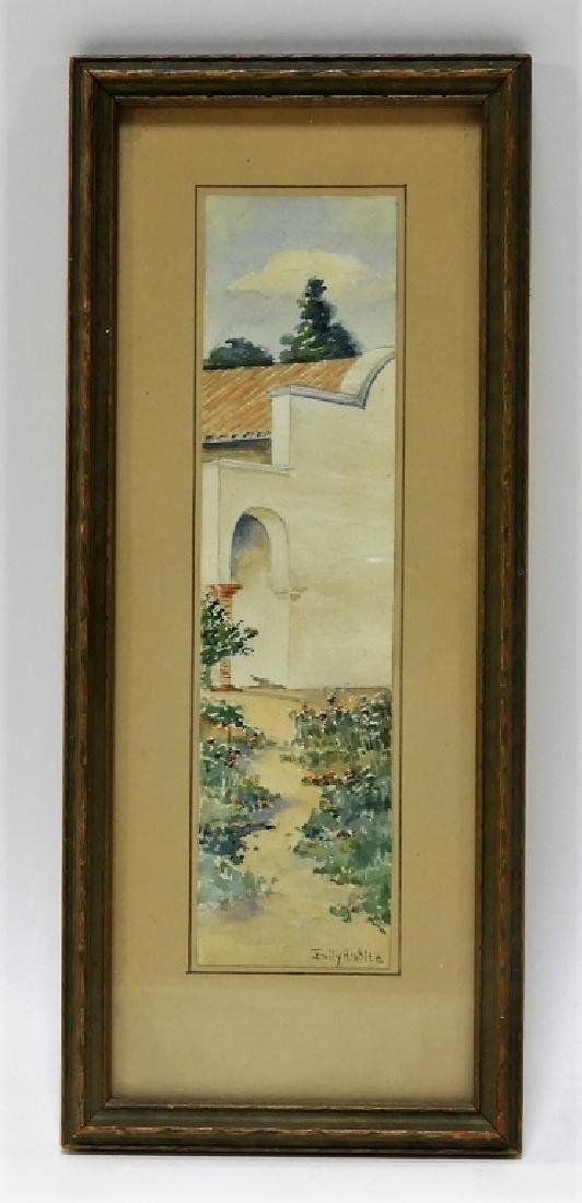 Emily H White Diminutive WC Landscape Painting - 2