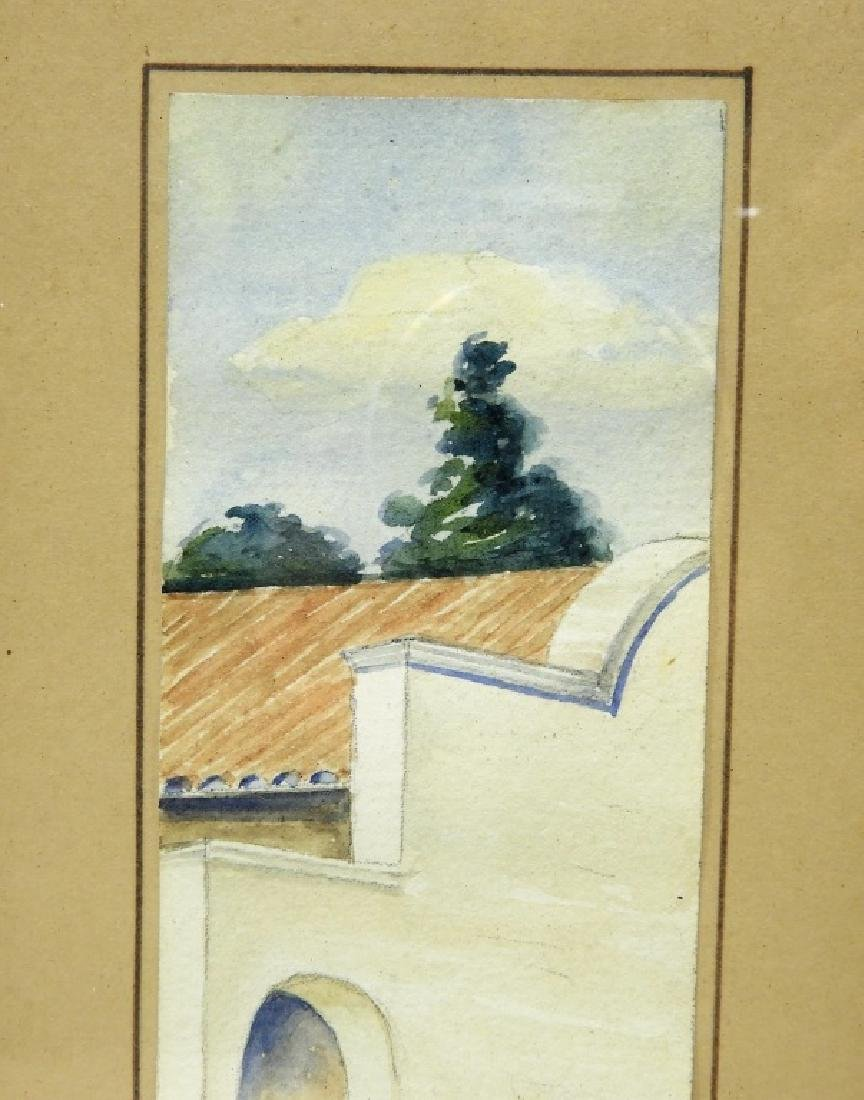 Emily H White Diminutive WC Landscape Painting - 3