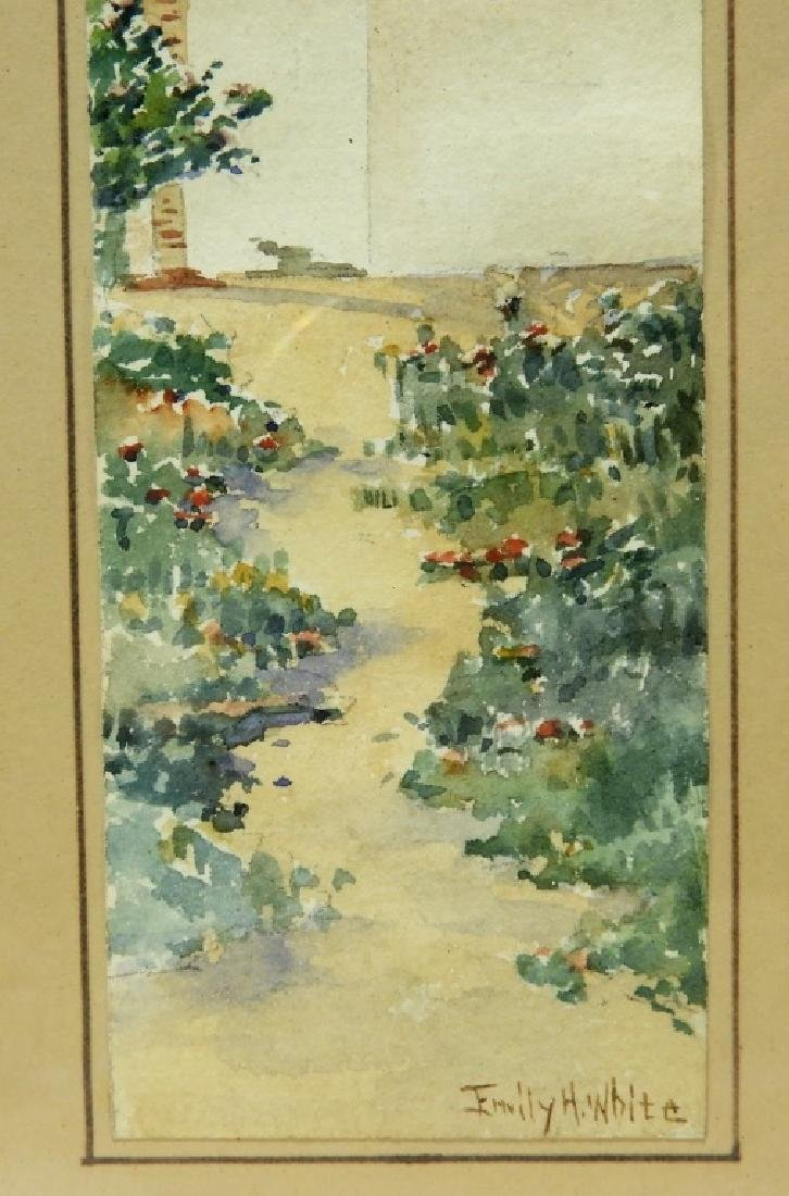 Emily H White Diminutive WC Landscape Painting - 4