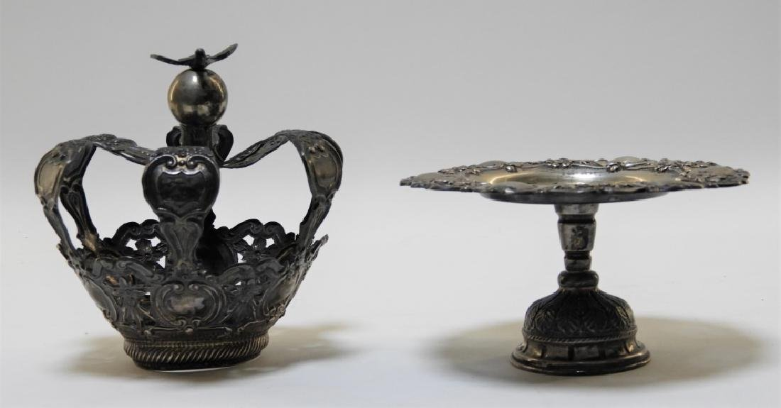 19C. Portuguese Silver Crown & Paten - 3